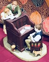 """Norman Rockwell Figurine - """"The Marriage License"""" June 11,1955 Gorham Issued1976"""