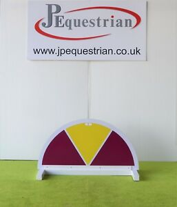 Purple and Yellow Half Moon Segment Show jump Filler-For Showjumping