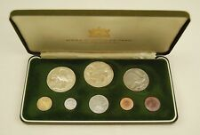 1976 Trinidad and Tobago 8-Coin Proof Set with Silver, Box & COA