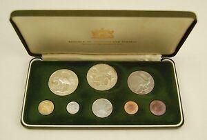 1976 Trinidad and Tobago 8-Coin Proof Set with Silver, Box & COA