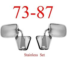 73 87 Chevy Stainless Mirror Assembly Set, GMC Truck Blazer Jimmy 0850-557