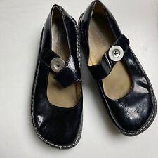 Alegria Paloma Mary Jane Clogs Black Patent Leather Womens Size 39