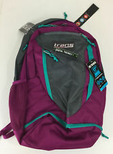 "Jansport Backpack Trans Capacitor NWT Berry Purple 17"" Laptop Sleeve Ventilated"