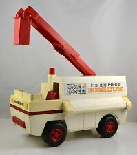 Vintage 1974 Fisher Price Adventure Fire Rescue Ambulance Toy Truck