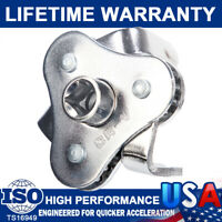 Oil Filter Wrench Adjustable Universal 3 Jaw Remover Tool Socket 1/2 & 3/8 Drive