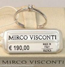 Anello in oro bianco 18kt 750% con diamante SOLITARIO  MIRCO VISCONTI