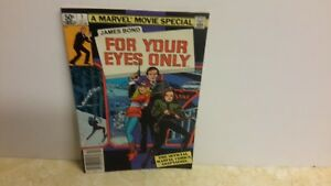 james bond 007 for your eyes only roger moore  marvel comic adaption 1981