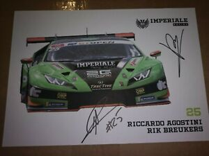 Imperiale Racing #25 International GT Open 2018 Signed Card