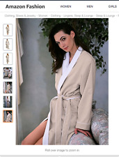 Spa by Kassatex Luxury Spa Robe - Microfiber with Cotton Terry Lining/  Seashell