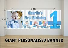 Personalised GIANT Large Boys 1st First Happy Birthday Banner N62 One Year