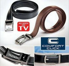 "USA Shipping Men's Comfort Click Belt Leather With Steel Brown 28""-48"" US SHIP!"