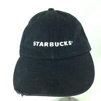 Starbucks Coffee Embroidered Logo Black Baseball Cap Hat Adjustable