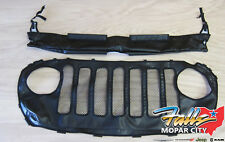 18-20 Jeep Wrangler JL Vinyl Front Hood and Grill Cover Protector Bra Mopar OEM