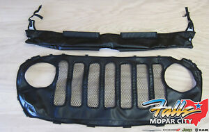 18-21 Jeep Wrangler JL Vinyl Front Hood and Grill Cover Protector Bra Mopar OEM