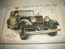 Vintage Heller Hispano Suiza K6 1934 1/24 model kit 733 Niob contents sealed