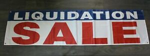 New  Liquidation Sale Banner Sign 2x8 feet Going Out of Business  Clearance