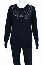 Irregular Markus Lupfer Emma embellished merino wool sweater S