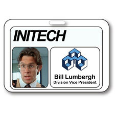 BILL LUMBERGH NAME BADGE HALLOWEEN COSTUME PROP OFFICE SPACE TV SHOW STRAP CLIP