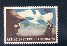 Poster stamp Kriegs-Aktivdienst der Schweiz 1939, Feldpost-Kompanie 24, Soldat
