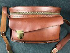 Vintage Brown Leather PERRIN Contur Camera Case Shoulder Bag #064565