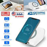 2019 Power Bank Qi Wireless Charging USB LED Portable Battery Fast Charger White