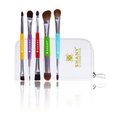 SHANY THE DOUBLE TROUBLE - 5 PC Double Sided Essential Brush Set W/Travel Pouch
