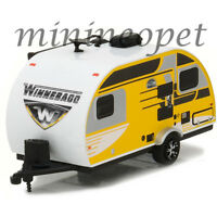 GREENLIGHT 34010 D 2016 WINNEBAGO WINNIE DROP 1710 TRAILER 1/64 YELLOW / WHITE