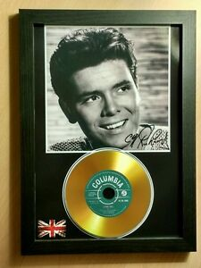 CLIFF RICHARD - SIGNED PHOTO  - WITH GOLD CD DISC COLLECTABLE MEMORABILIA MK1