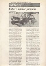 Volvo 144 Winter Driving 1973 UK Market Leaflet Brochure Financial Times