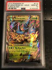 Pokemon Card Mega Heracross EX 112/111 Holo Secret Rare PSA 10 GEM MINT