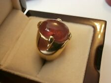 Stunning 18ct gold men's/gent's ring with a real amethyst hallmarked