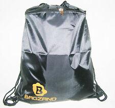 Senior Black Drawstring Bag Backpack Large Front Zipped Pocket AllSports Gym Bag