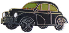Morris Minor car cut out lapel pin - Black body