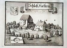 Schloß Forstern Mattig Inn   Wening  Kupferstich 1721