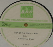 PSYCHEDELIC FURS RAINBOW STRAY CATS SHEENA ~ BBC TOP POPS TRANS DISC 870 LP 1981