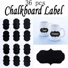 36pcs Chalkboard Blackboard Chalk Board Stickers Craft Kitchen Jar Labels AU