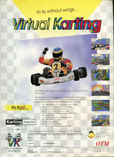 """Virtual Karting """"To Fly Without Wings"""" 1996 Magazine Advert #5356"""