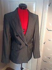New Zara Basic Grey/silvery Blazer Jacket UK Large, 12-14, office, stitch detail