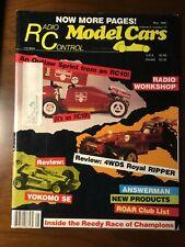 Radio Control Model Cars R/C Magazine  May87 RC10 Outlaw Sprint Yokomo SE Reedy