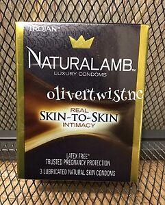 NEW Trojan Naturalamb Luxury Lubricated Skin Condoms SEALED 3 CT Exp 01/2024