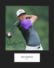 RORY MCILROY #1 Signed 10x8 Mounted Photo Print  (REPRINT) - FREE DELIVERY