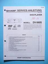 Manuel de reparation pour Sharp dv-560 S, original