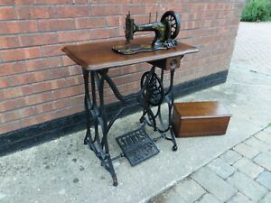Jones Vintage Treadle Sewing Machine on Cast Iron Base (Grantham or Leicester)