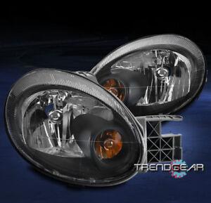 FOR 2003 2004 2005 DODGE NEON REPLACEMENT BLACK HEADLIGHT HEADLAMP LAMP L+R SET