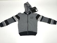 D&G New Boys Kids Toddler HOODIE w STRIPED SLEEVES SWEATSHIRT Sz 2 RTL: $305 Q93