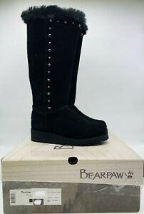 BEARPAW Women's Dorothy Tall Knee High Boots Earth Black Suede - Choose Size