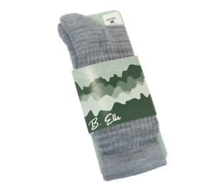 B. Ella Ladies Merino Wool Blend Boot Socks Juniper Grey - NEW