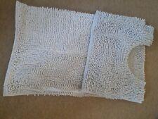 white bath mat set