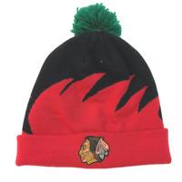 Chicago Blackhawks, Winter Beanie Hat with Pom Pom, NHL, Hockey, Mitchell & Ness