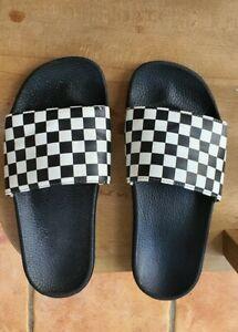 Vans sliders checker/chequerboard. UK size 7